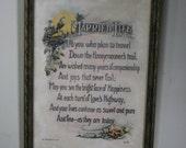 vintage marriage verse in wood frame