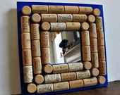 Wine Cork Board Mirror - Wall Decor, Bar Decor,