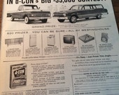 Dcon rat bait ad prize give away. Drawing for 1962 Ford Truck 1962 Falcon Station wagon. Stereos fridges
