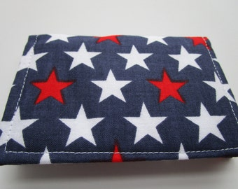 American Flag Wallet, Credit Card Wallet, Patriotic Wallet, Wavy Flag, Stars and Stripes, Business Card Holder, Independence Day, July 4
