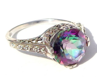 Mystic Topaz,Sterling Silver Ring