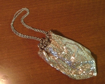Vintage 1950's  Whiting & Davis Silver Tone Mesh Purse