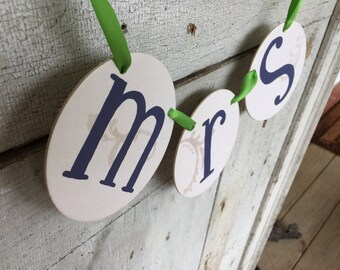 Mr. & Mrs. wedding banner