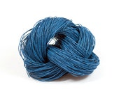 Paper Yarn - Paper Twine: JeansBlue Indigo - 131 yards (120m) - Knit, crochet, textile arts, DIY supply