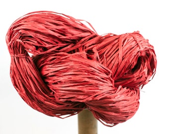 Red Paper Raffia - Paper Ribbon: 260 yards (240m) - Fiber Arts, Knit, DIY, Gift Wrapping, Weave, etc. - Handwash