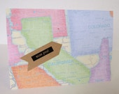 Miss You Map Themed Christian Card With Scripture