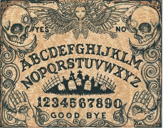 Ouija board archival print