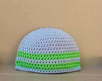 boy beanie, boy beanies, boys beanie, crochet hat, beanie, green hat, grey hat, gray hat, vegan friendly, beanie for boy, size 12 month 1852