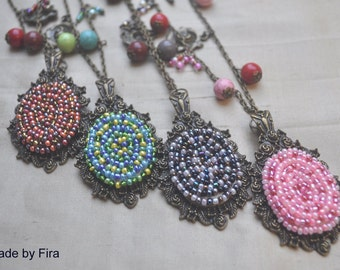 Bohemian style long necklaces
