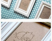 Baby Animal Sketches on Kraft Paper
