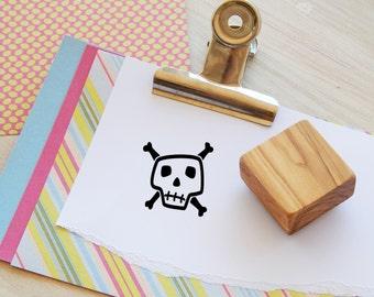 Funky Skull Olive Wood Stamp
