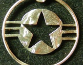 US Army Hand Cut Coin Jewelry