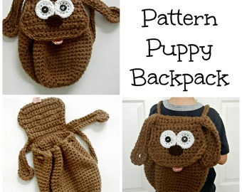 PDF Pattern Puppy Backpack - Toddler Backpack -Dog Backpack - Crochet Pattern - Instant Download