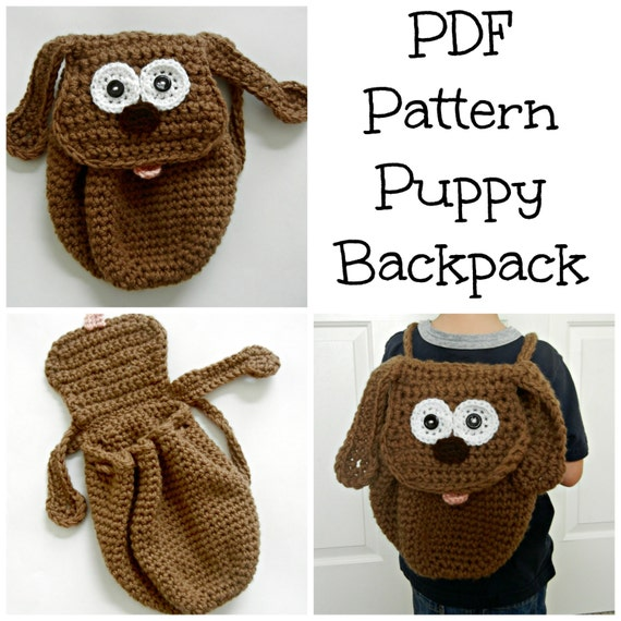 PDF Pattern Puppy Backpack - Toddler Backpack -Dog Backpack ...