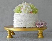 "Gold Cake Stand 22"" Wedding Cake Topper Cupcake Stand Vintage Rustic Wedding Decor E. Isabella Designs. Featured In Martha Stewart Weddings"