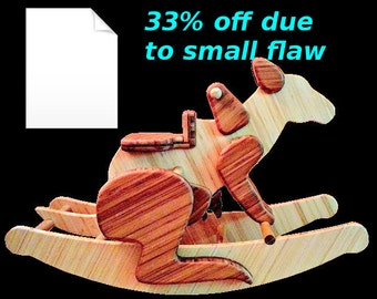 Rocking Kangaroo DIY Full-Sized Paper Woodworking Plans - Scratch and Dent Item!!