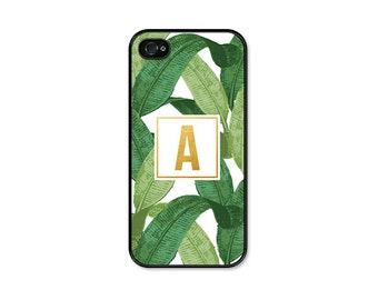 Banana Leaf iPhone Case - Banana Leaf Phone Case - Monogrammed Gifts - iPhone 6 Case - Banana Leaves - iPhone 5 Case - iPhone 5c Case