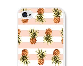 Pineapple iPhone 5s Case Pineapple iPhone 6 Plus Case  Pineapple iPhone Case Pineapple iPhone 6 Case Pineapple iPhone 5 Case Striped Pink