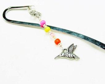 Teachers Bookmark. Hummingbird Bookmark. Bright Beaded Nature Bookmark. SBK007