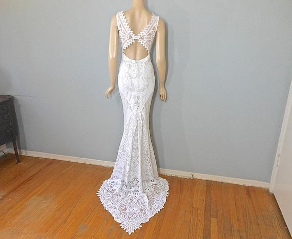 Mermaid Wedding Dresses: Lace Mermaid WEDDING Dress Hippie BoHo Wedding By