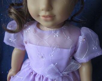 Lavender special occasion dress for your American Girl doll