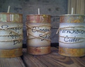 Farmhouse Candle Collection  Can Candle - Highly Scented - Primitive Label  - Homemade - Only 11.99