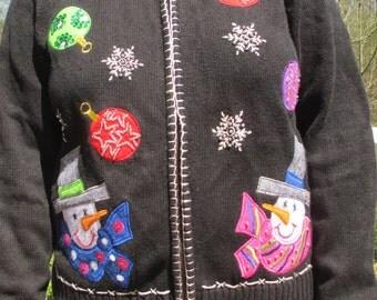 snowman sweater, snowmen sweater, snowman, snowmen, tacky sweater, tacky sweater party, christmas sweater, ugly sweater, holiday sweater