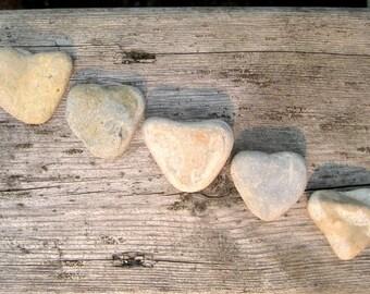 Stone Hearts - Heart Shaped Stones - Natural Stone Heart - Heart Beach Rocks