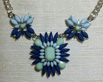 Ocean Blues Statement Necklace