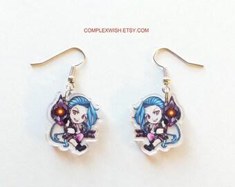 League of Legends earrings - Jinx