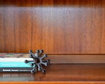 vintage cast iron dansk spider candle holder - jens quistgaard