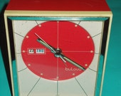 Outstanding 1960's MoD Modern BULOVA Wind Up Alarm Clock
