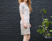 Knitted linen with biocotton dress EARLY SPRING-April.