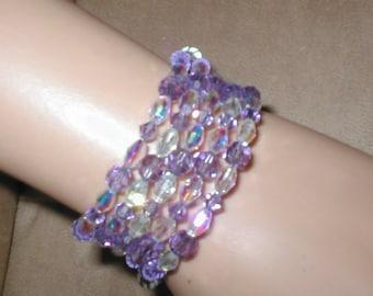 Swarovski Purple Amethyst Crystal Bracelet