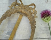 Antique solid golden brass frame bow floral table frame