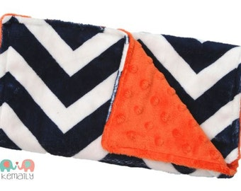 Navy Blue & White Chevron Double Minky Burp Cloth - Baby Shower - Newborn - Gift - New Mom - Feeding - Nursing - New Mom - Essentials