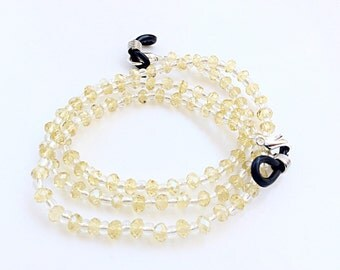 Eyeglasses chain holder citrine crystals beads beautiful eyeglasses neck chain glasses holder necklace N34