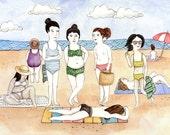 Beach Babes Greeting Card