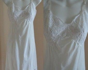 Vintage Slip, Vintage White Slip, Van Raalte, White Slip, Wedding, White Full Slip, Full Slip, Slip, Vintage Lingerie