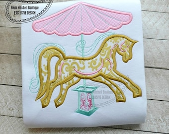 Carousel horse applique