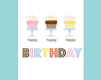 Birthday Card Pack Birthday Greeting Cards Happy Birthday Cards Hip Birthday Cards Cute Birthday Cards Birthday Cards for Her Birthday Cards