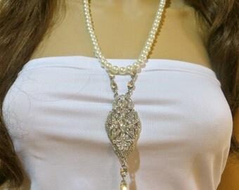 1920s Wedding, Great Gatsby Wedding, Flapper Accessory, Art Deco Necklace