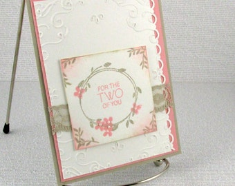 Wedding Card Handmade Marriage For the Two of You Congratulations Married Couple