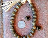 Old Nigerian Brass Bicones 10x12mm