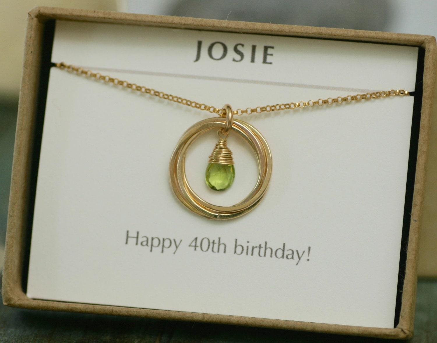 40th Birthday Gifts For Women Peridot Necklace August