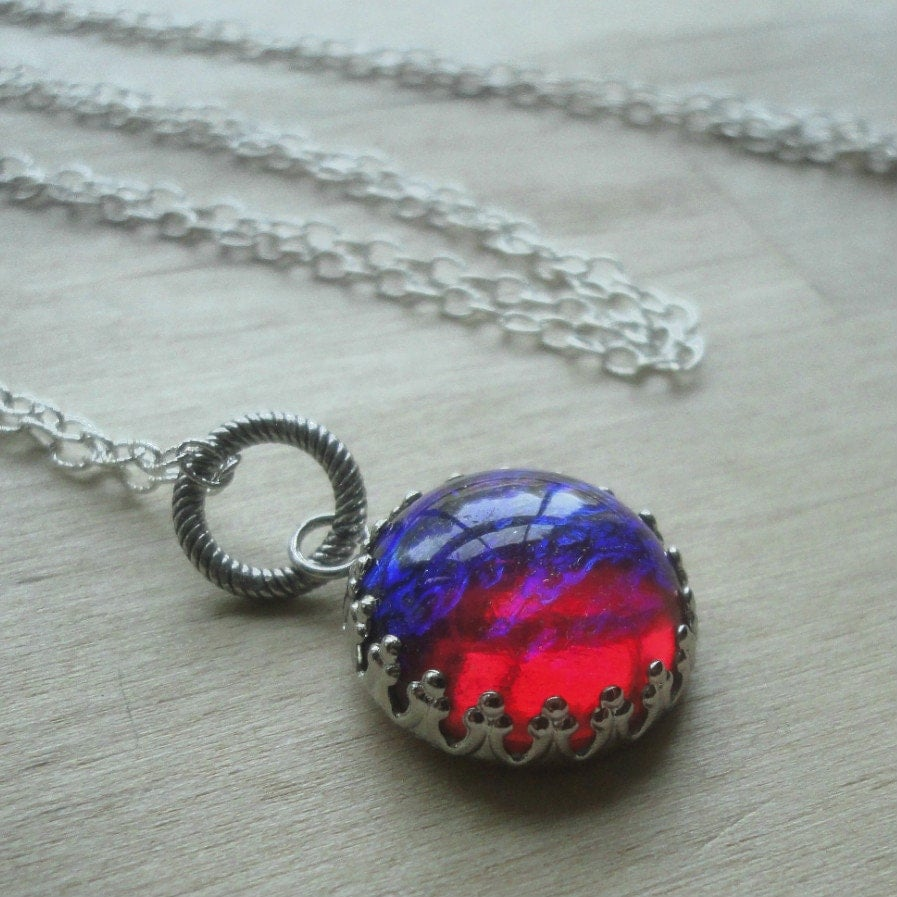 dragon breath fire opal jewelry red jewelry gift by