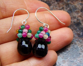 Sale Black Onyx earrings. One of a kind.