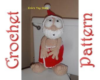 Peek-A-Boo Santa A Crochet Pattern by Erin Scull