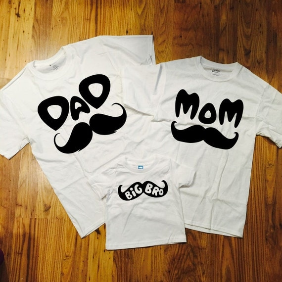 big bro family t shirts 3 pack gift set daddy mommy baby shower