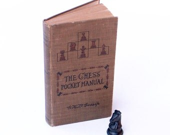 Chess Pocket Manual by Gossip 1916 Illustrated Book Chesspiece Moves